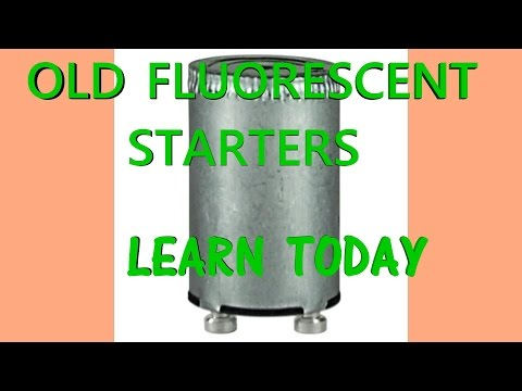OLD  Fluorescent FIXTURES with separate starters
