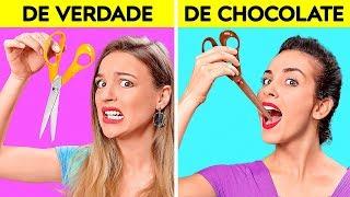 DESAFIO: REAL X DE CHOCOLATE|| O Último Que PARAR Ganha! Teste De Sabores por 123 GO! CHALLENGE