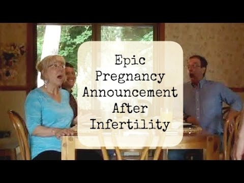 EPIC Pregnancy Announcement After Infertility (From 2012)