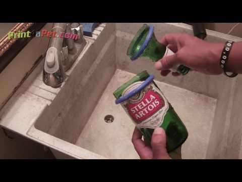 DIY bottle cutting separation tip for Kinkajou bottle cutter