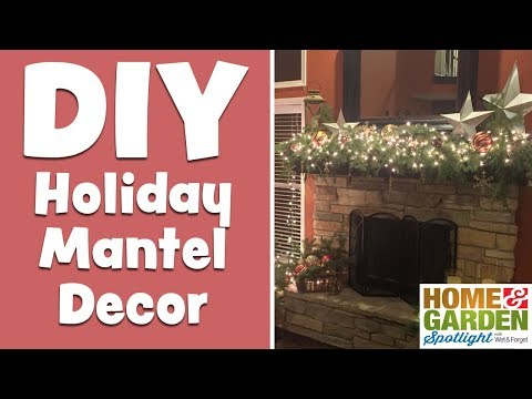 DIY Holiday Mantel Decoration