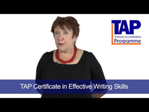 TAP Certificate in Effective Writing Skills