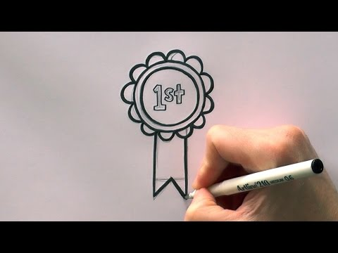 How to Draw a Cartoon First Prize Rosette