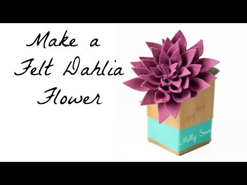 How to Make a Felt Dahlia