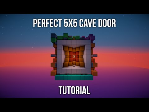 (1.5+)TUTORIAL: Perfect 5x5 Cave Door [Always On Lamp, Fully Synced, Fast, Symmetrical, Layout Size]