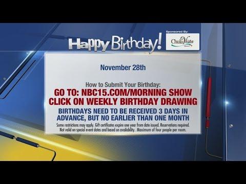 Birthdays for November 28th