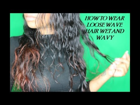 WET AND WAVY TUTORIAL ON BRAZILIAN LOOSE WAVE|PRODUCTS USED