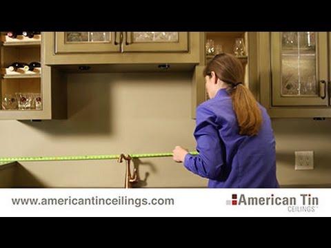 Measuring for a Tin Tile Backsplash (2/3)