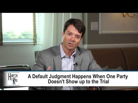 Failure of Defendant to Show at Trial Leads to Default Guilty Judgment – TX Lawyer Chris King