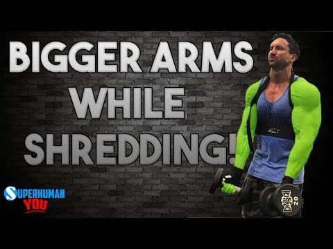 3 Ways to Get BIGGER ARMS While Losing Body Fat!