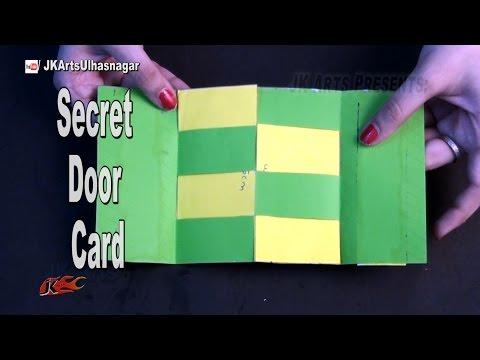 DIY Secret  Door Card for Scrapbook | How To Make  | JK Arts 1025