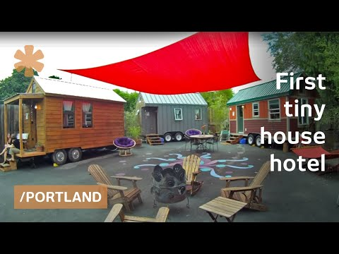 America's 1st tiny house hotel had to be in dense Portland