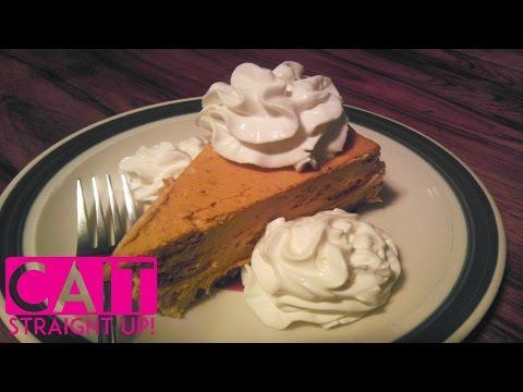No Bake Pumpkin Cheesecake | Cinnamon Cream Topping | Cait Straight Up