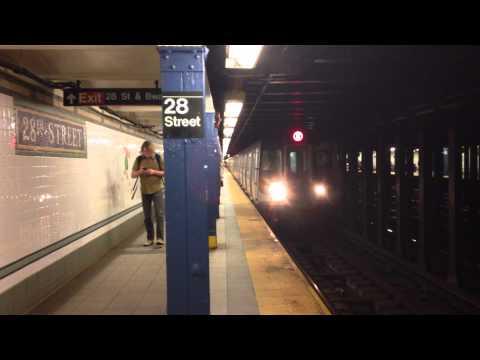 New York, New York - N Train Arrives at 28th Street HD (2015)