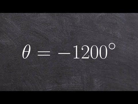 Tutorial - Determine two coterminal angles positive and negative ex 13, θ = -1200 degrees
