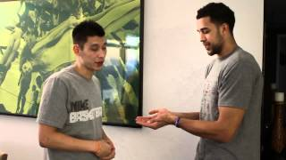 "Jeremy Lin and Landry Fields ""Secret"" Handshake"