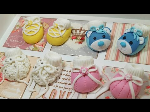 Fondant Sugarpaste Baby Shoes For A Cake How To