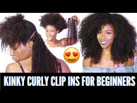 How To Install Clip ins for beginners   Kinky curly clip ins from HerGivenHair.com