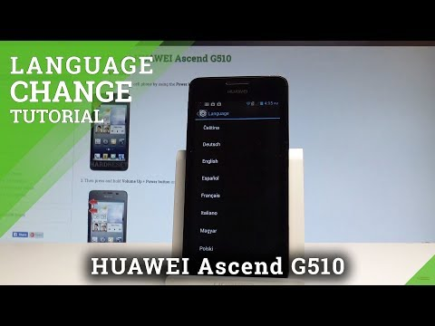 How to Set Up Language on HUAWEI Ascend G510 - Change Language |HardReset.Info
