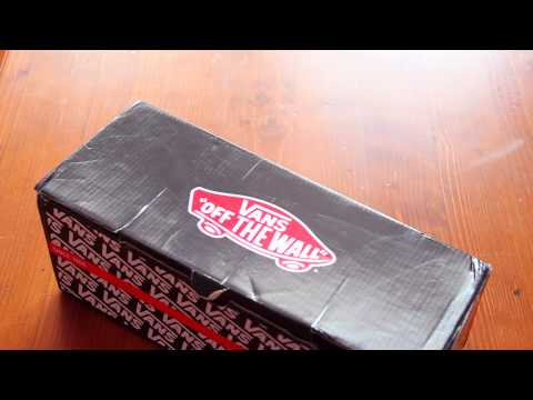 VANS red shoe unboxing video from Ebay