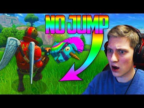 NO JUMP CHALLENGE! - Fortnite Battle Royale SEASON 3 Gameplay!