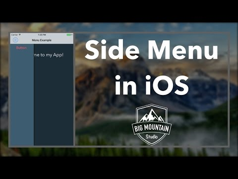 Side Menu (iOS, Xcode 8, Swift 3)