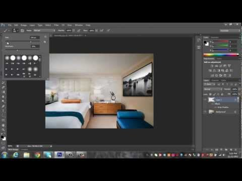 Photoshop CS6 Tutorial :  How to Edit Art onto Walls with the right perspective