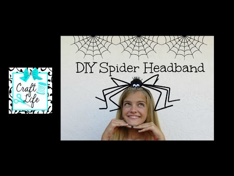 Craft Life ~ DIY Funny Spider Headband Tutorial for Halloween