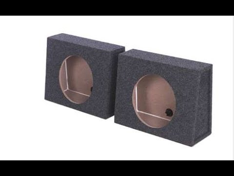 Q-power Single 12-Inch Sealed Subwoofer Box Enclosures | QTW12