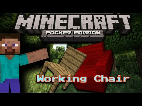 How to make a: Working Chair/Sofa| Minecraft Pocket Edition