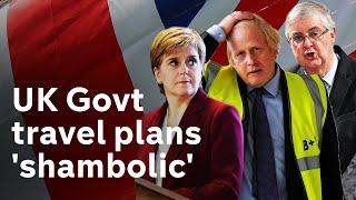 Scotland and Wales governments call UK air-bridge plans 'shambolic'