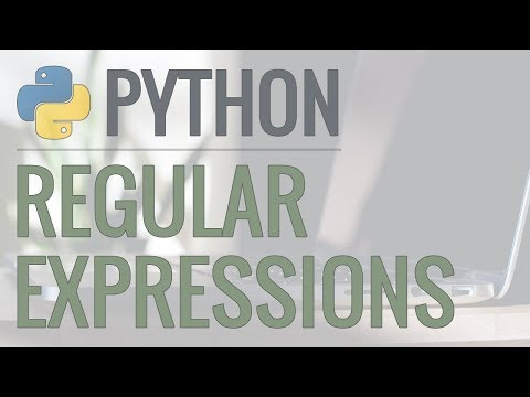 Python Tutorial: re Module - How to Write and Match Regular Expressions (Regex)