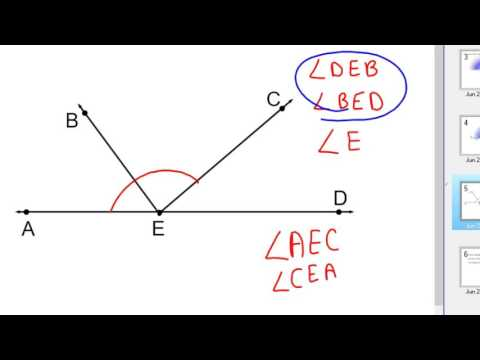How to name and measure angles