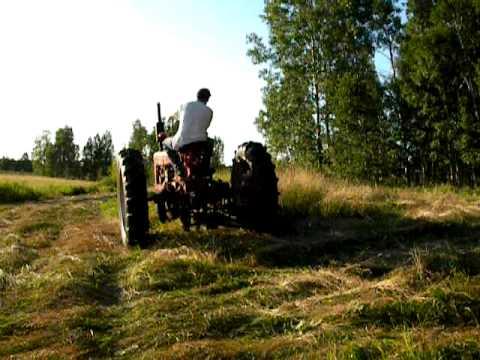 Farmall H sickle mower cutting hay
