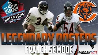Legendary Chicago Bears Roster Madden 17 Connected Franchise Walter P