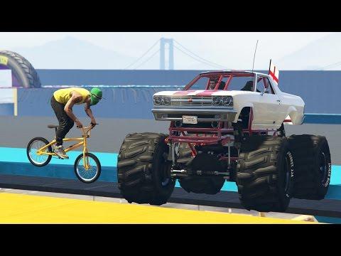GTA 5 Online - BMX VS MONSTER TRUCK! - GTA V