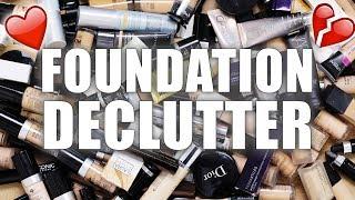 100 foundations makeup declutter