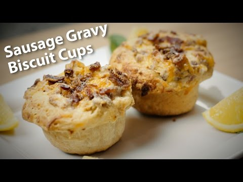 Sausage Gravy Biscuit Cups Recipe