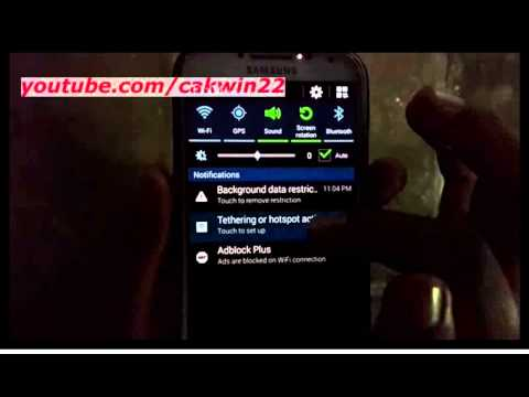 Samsung Galaxy S4 : How to enable or disable portable wifi hotspot (Android Kitkat)