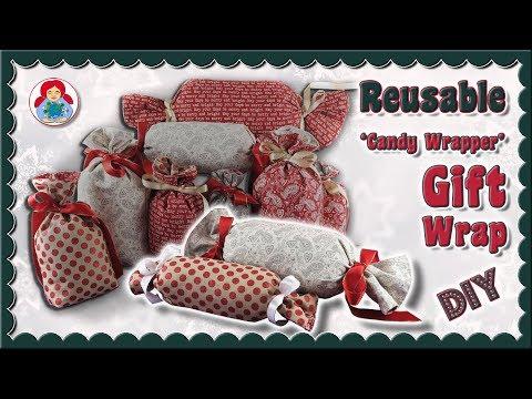 DIY |  Reusable Gift Wrap 'Candy Wrapper' • Sami Dolls Tutorials