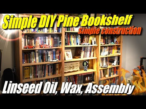 Simple DIY Bookshelf from Cheap Pine, Part 3: Linseed Oil Finish and Assembly