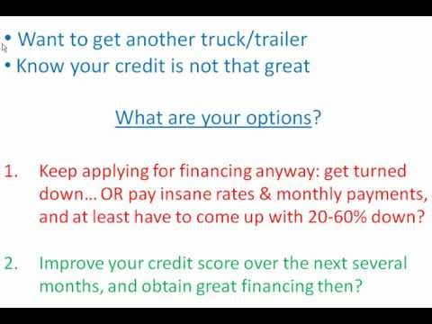 Semi Truck Financing Bad Credit - Solution For Bad Credit in Commercial Trucking Industry