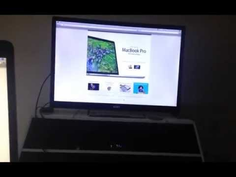 MacBook 15in Retina display laptop Running On Sony Google Tv Through The macbook HDMI Out Port