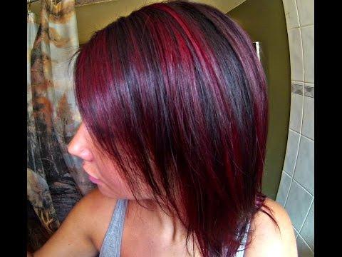 Red Highlights Hair Tutorial FT. Manic Panic Fushia Shock