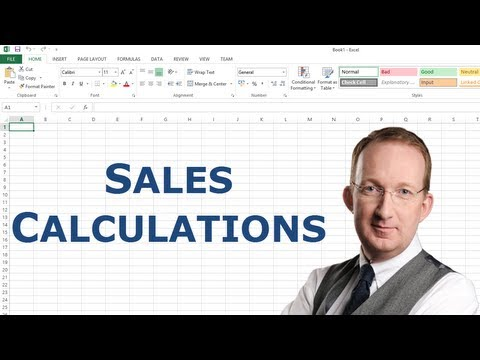 Excel Sales Calculation
