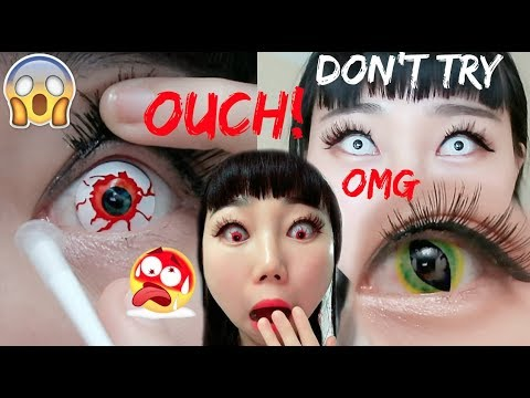 My Eyes Hurt Cuz By Wearing 4 Crazy Contact Lens | Do NOT Buy These!