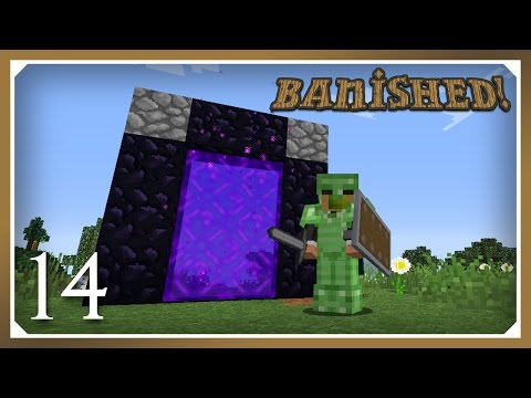 Minecraft Banished Modpack | Nether! | E14 (Harsh Survival Minecraft 1.10.2)