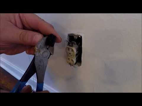 How to shim a recessed electric plug outlet super simple