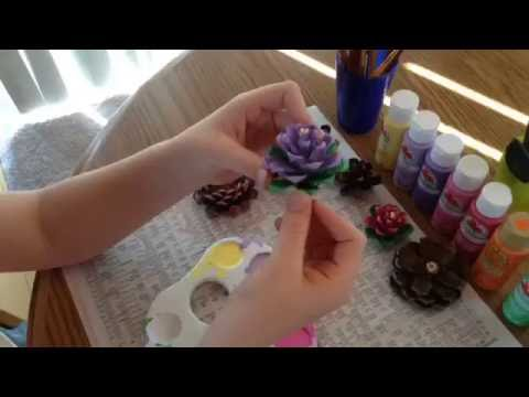 How To Make A Pinecone Flower