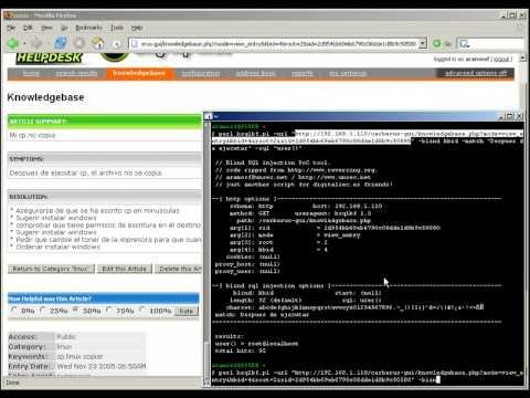 Mackem Hackers - Blind SQL Injection